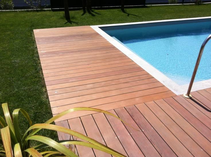 Pose de terrasse sur Cassis en bois exotique  Parquet et terrasse en